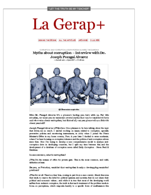Interview by La Gerap+ (16 June 2017)